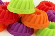 Kit Com 6 Formas Para Mini Bolos E Pudim Em Silicone