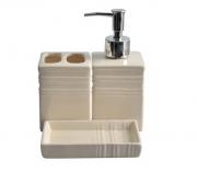 Kit Para Banheiro Saboneteira Porta Sabonete E Escova Dental