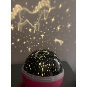 Luminária Abajur Projetor Unicórnio 360º Star Master