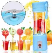 Mini Liquidificador Portátil Shake Juice Cup C/ Coador- Azul