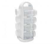 Porta Temperos / Condimentos 8 Peças Em Plástico
