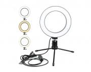 Ringh Light Iluminador Para Fotos Maquiagem 16cm com Tripé