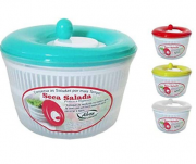 Secador De Saladas Grande Verduras Legumes Centrífuga 4,5L