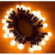 Varal De Luzes Festão Cordão 15 Mts Lâmpadas Led Inclusas