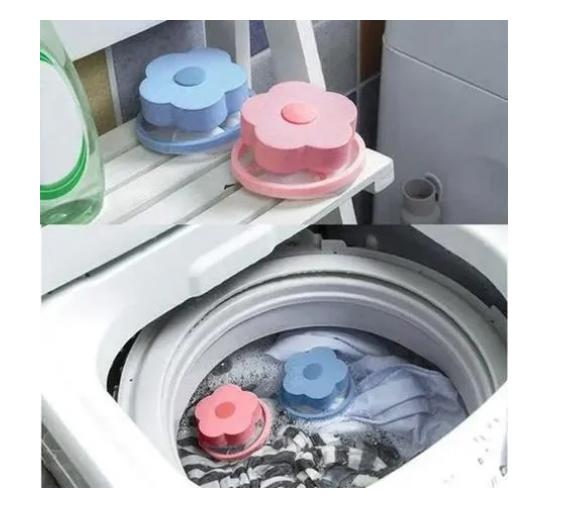 2 Filtro Flutuante Coletor Pelos Fiapos Pet Máquina De Lavar