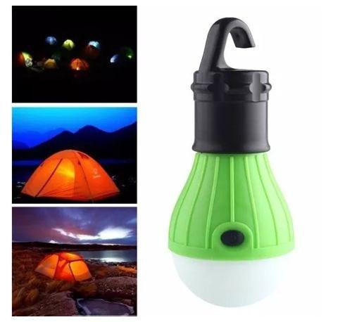 Lâmpada Led Camping Barraca A Pilha 3 Efeitos - Verde