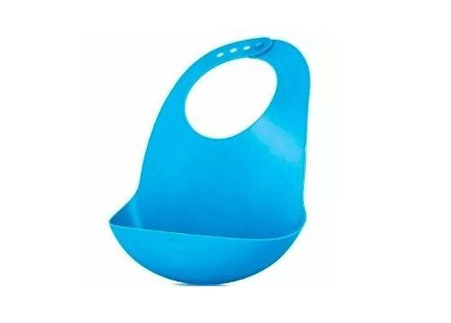 Babador Cata Migalhas Em Plástico Flexível Azul
