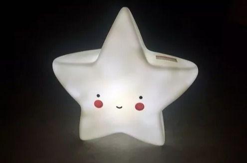Mini Luminária Em Led Estrela - Branca
