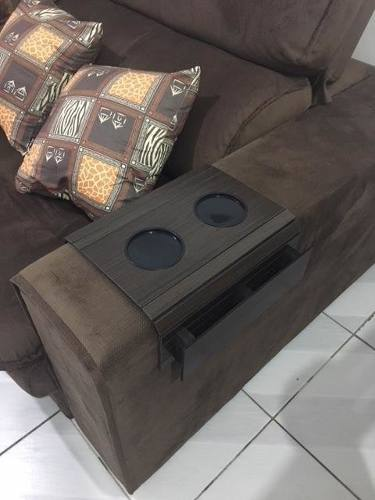 Bandeja-esteira Flexível Para Sofá C/ Caixote Para Controles