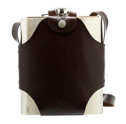Cantil Porta Bebida Em Aço Inox Com Alça - 1,4 Litros