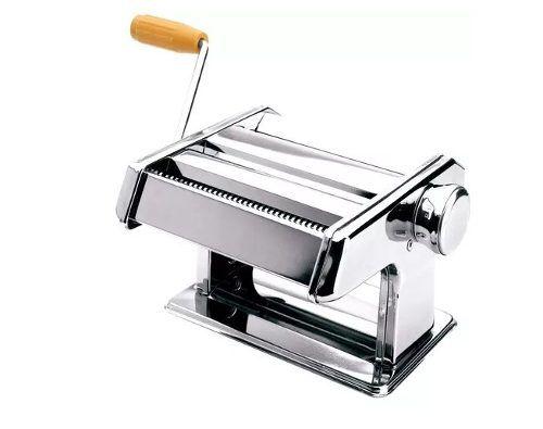 Máquina Profissional Macarrão Aço Inox Massa Manual Manivela