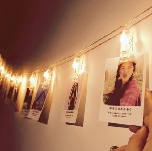 Cordão Varal Pregador Clipe Luminoso Em Led Para Foto