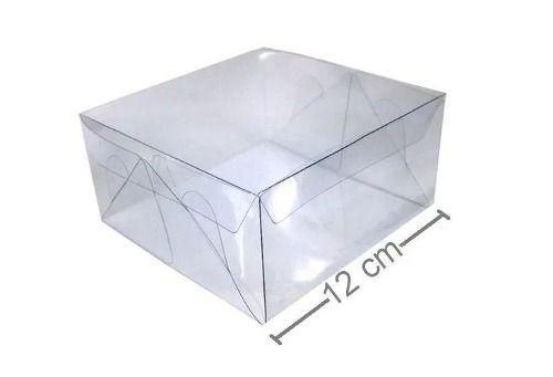 Caixa De Acetato 12 X 12 X 6 Cm - 80 Unidades