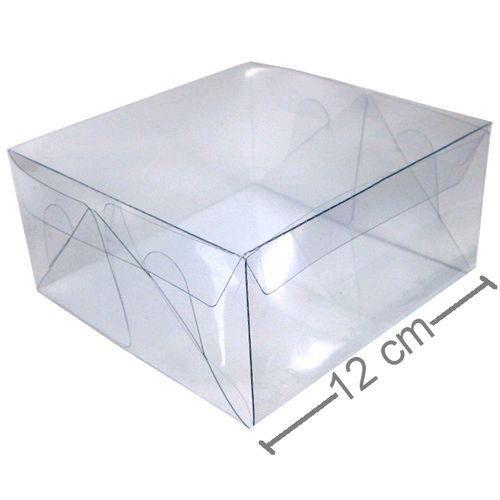Caixa De Acetato 12 X 12 X 6 Cm - 20 Unidades