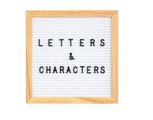 Quadro Decorativo Letter Board 26 X 26cm