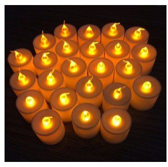 Kit Com 24 Velas De Led Decorativas - Baterias Inclusas