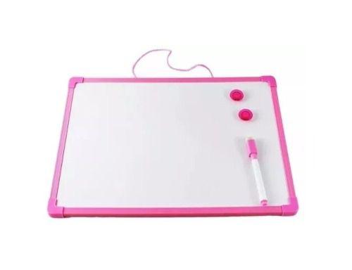 Quadro Branco 50x35cm Com 2 Imãs E Caneta Com Apagador -rosa