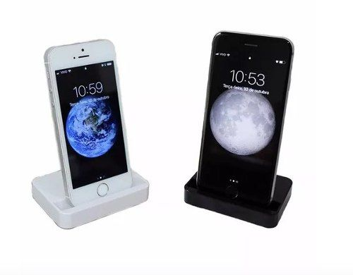 Dock Station Base Carregadora Iphone 5 5s 6 6s 7 8 - Preto