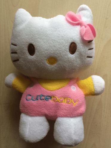 Capa Porta Mamadeira Em Pelúcia - Hello Kitty