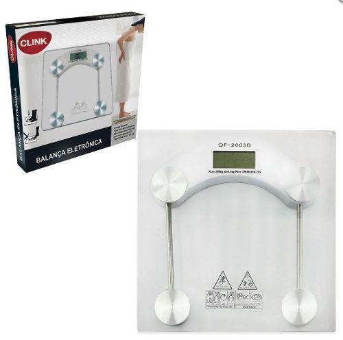 Balança Digital Para Banheiro Para Até 180kg - Clink