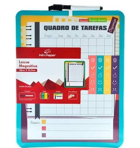 Lousa Magnética Quadro De Tarefas Semanais - Win Paper