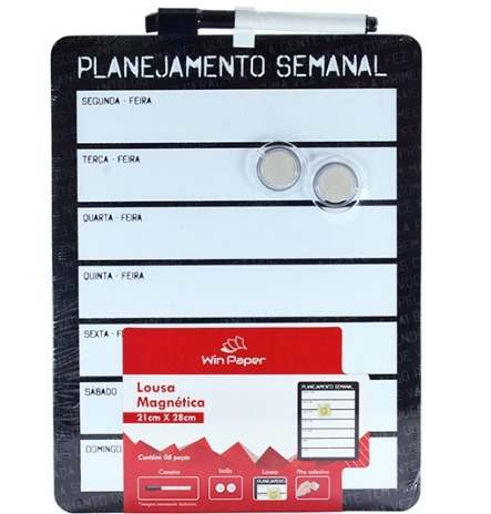 Lousa Magnética Planejamento Semanal - Win Paper