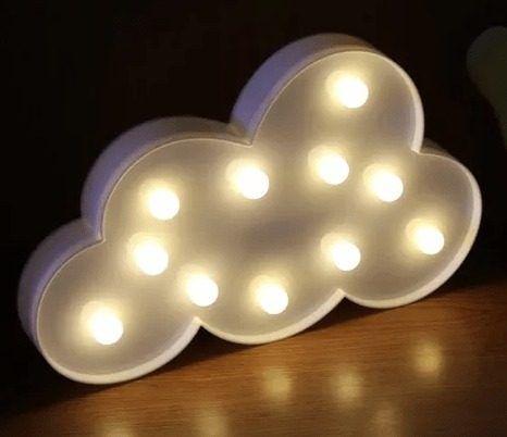 Luminária Enfeite Nuvem Em Led