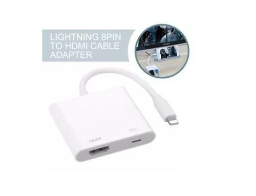 Adaptador Av Digital/hdmi Para Iphone Entrada Lightning