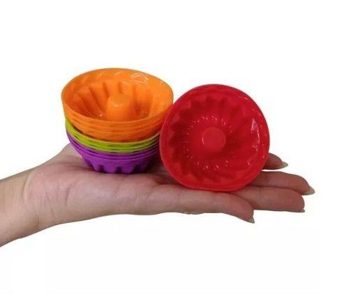Kit Com 12 Formas Para Mini Bolos E Pudim Em Silicone