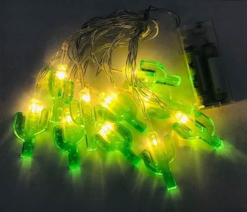 Cordão Fio De Luz Em Led Decoração - Cacto
