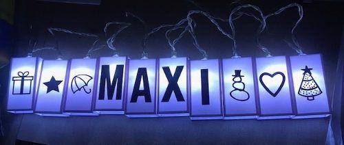 Cordão Fio De Luz Com 10 Letras Em Led Decoração