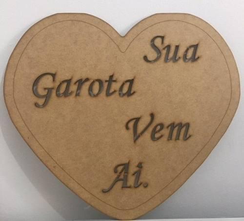 Placa Mdf Sua Garota Vem Ai - Casamento Pajem, Daminha
