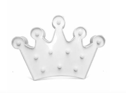 Luminária Enfeite Coroa Em Led - Branco