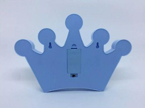 Luminária Enfeite Coroa Em Led - Azul