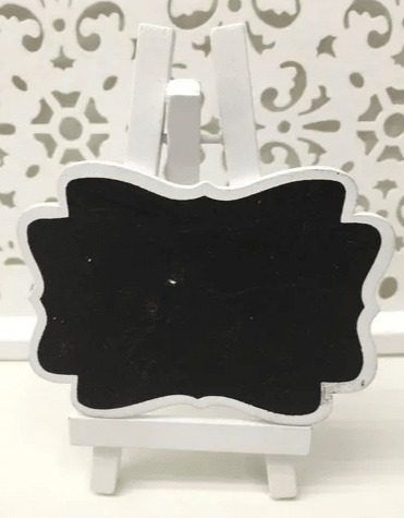 Mini Lousa Cavalete Quadro Negro Decoração 8.5x12cm Branco
