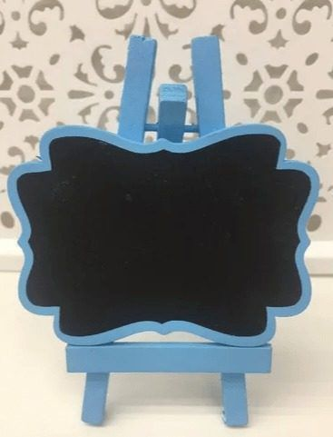 Mini Lousa Cavalete Quadro Negro 8.5x12cm Azul