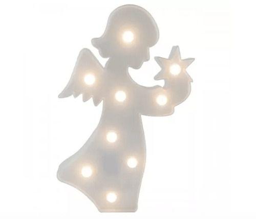 Luminária Enfeite Anjo Em Led