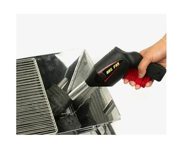 Acendedor Soprador De Churrasqueira Carvão E Lareira Manual