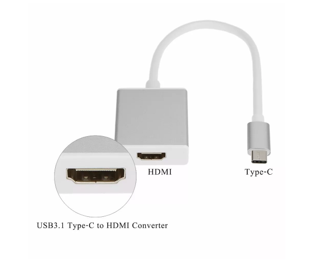 Adaptador Usb-c Hdmi Adaptador P/ Macbook 12 Type C Usb 3.1