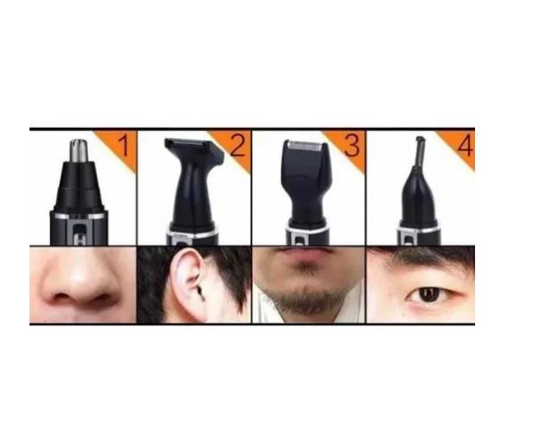 Aparador De Pelos Elétrico Barbeador Kit 4 Em 1