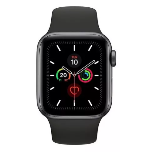 Apple Watch Series 5 44mm Black Sport Original Lacrado