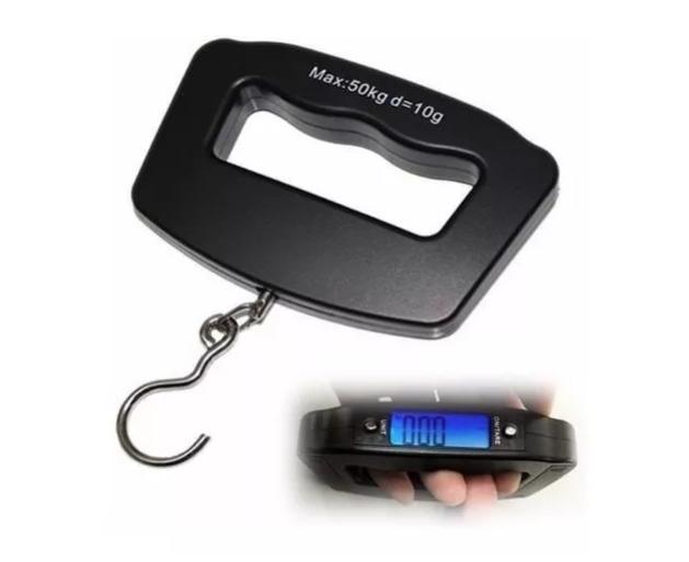 Balança Digital Portátil Até 50kg Mão Bagagem Mala - Clink