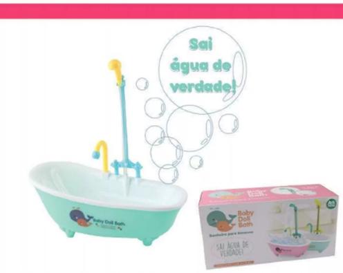Banheira Para Boneca Com Chuveiro De Verdade