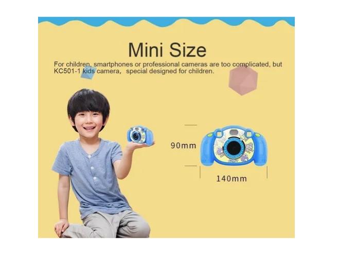 Câmera Digital Com Flash Criança Kids Gravação De Videos 12 M