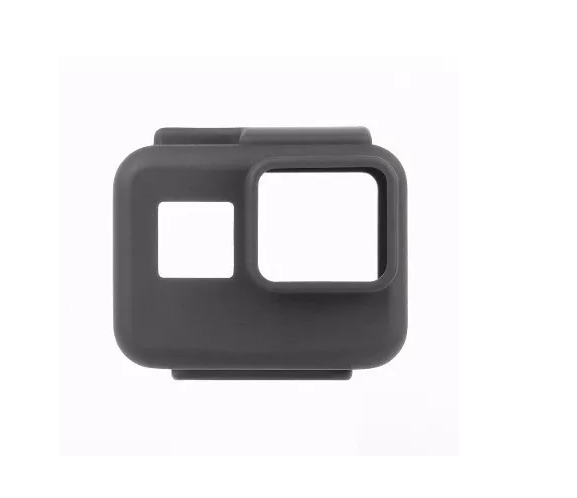 Capa De Silicone Protetora Para Go Pro Hero 5, 6, 7 Black