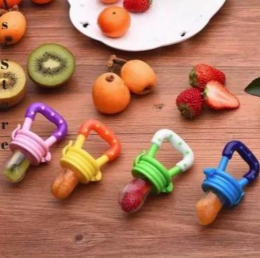 Chupeta Alimentadora Frutas Bico Mordedor em Silicone