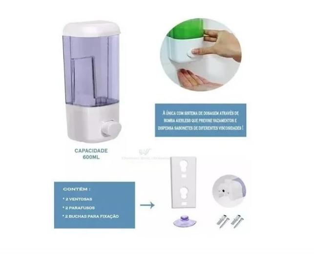 Dispenser Dosador 600ml Sabão Sabonete Líquido Detergente