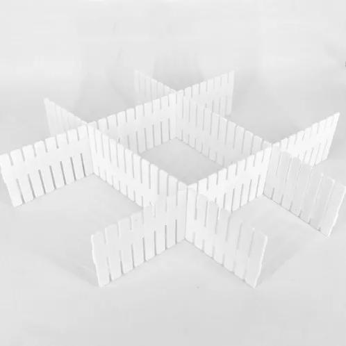 Divisória De Gaveta Japonesa Multiuso Com 04 Tiras - Branco