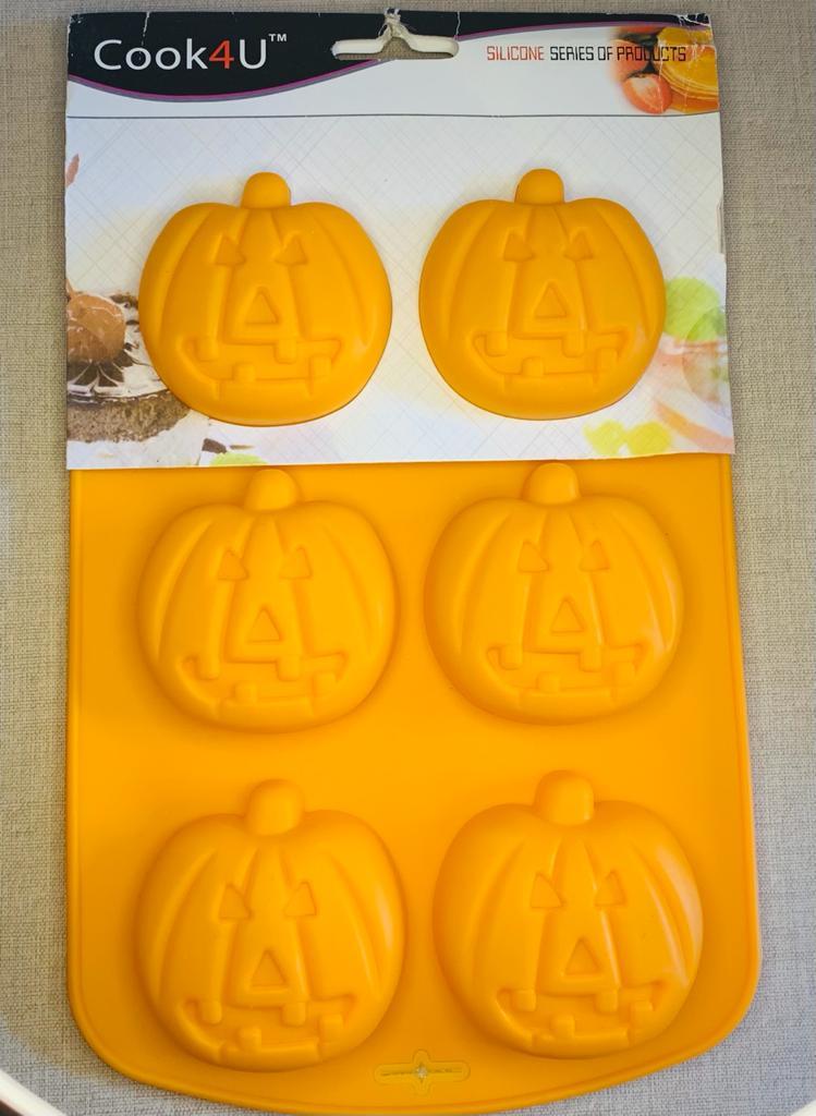 Forma de Silicone Abóbora Halloween Confeitaria E Biscuit