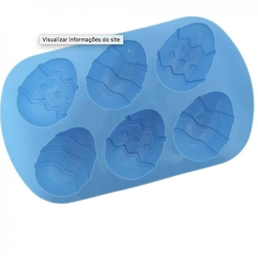 Forma de Silicone para Ovo de Páscoa com 6 Cavidades